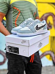 Кроссовки Nike Air Jordan Retro 1 X Dior Low, Найк Аир Джордан