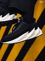 Мужские кроссовки Adidas Shark Black+White, Адидас Шарк