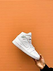 Кроссовки Nike Air Jordan Retro1 White, Найк Аир Джордан