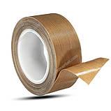 Тефлоновий скотч рулон 10м ширина 50мм товщина: 0.18 мм термостійкий для зварювача пакетів, фото 6