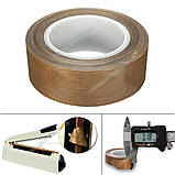 Тефлоновый скотч рулон 10м ширина 50мм толщина 0.18мм термостойкий для запайщика пакетов, фото 5