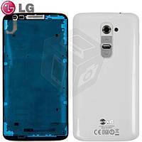 Корпус для LG Optimus G2 D802, оригинал (белый)