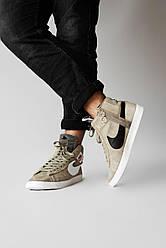Мужские кроссовки Nike Blazzer Olive, Найк Блейзер