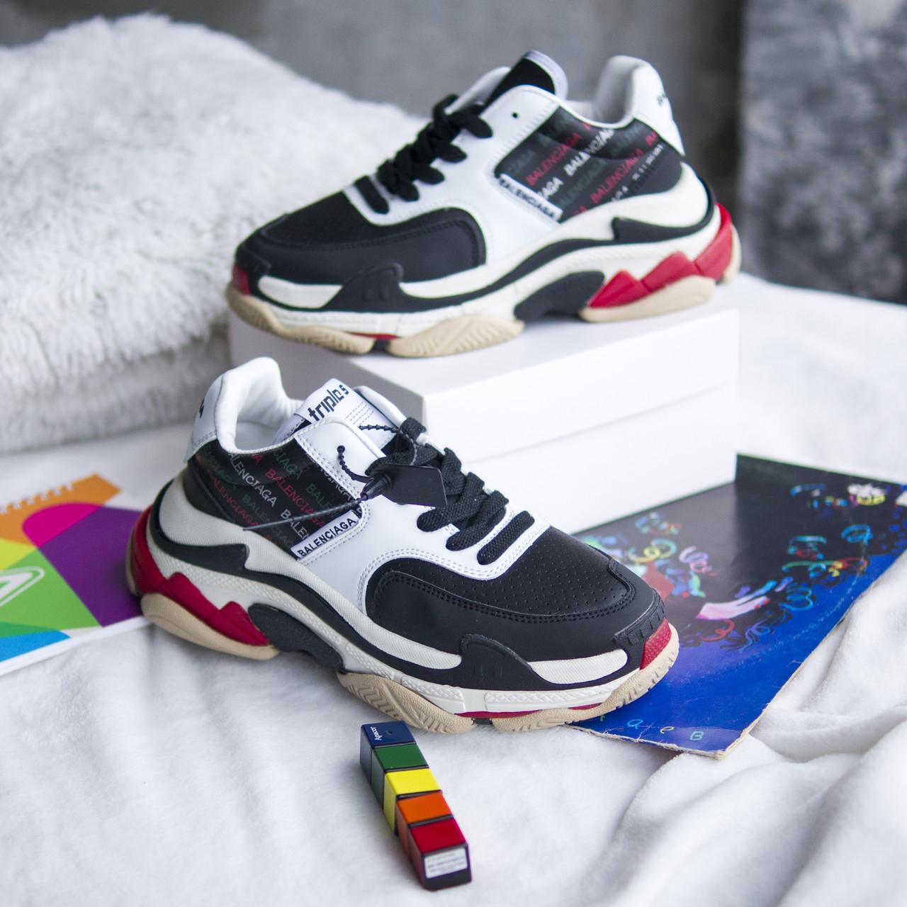 Кросівки Balenciaga Triple S Black/White, Баленсіага Тріпл З