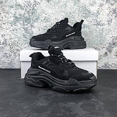 Кроссовки Balenciaga Triple S Black, Баленсиага Трипл С