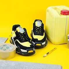 Кроссовки Balenciaga Triple S 2.0 Black Yellow, Баленсиага Трипл С