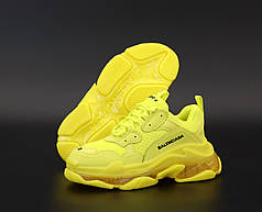 Кроссовки Balenciaga Triple S Yellow, Баленсиага Трипл С