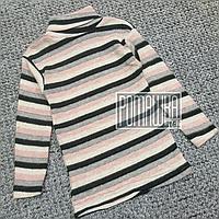 Теплий з начосом на флісі р 110 4 роки дитячий гольф гольфик водолазка для дівчинки РУБЧИК 4902 Рожевий