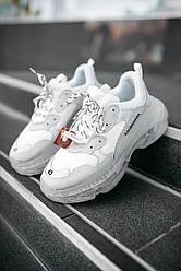 Мужские кроссовки Balenciaga Triple S Clear Sole White, Баленсиага Трипл С
