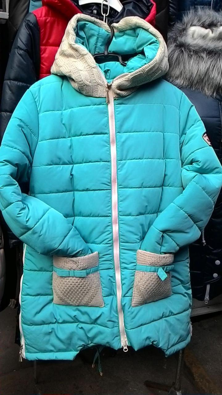 Зимняя куртка Брикс бирюза
