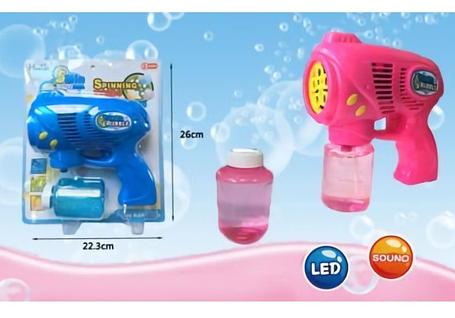 Пистолет с мыльными пузырями Turbo Bubble ABC Розовый, фото 2