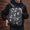 Рюкзак молодіжний з кольоровим принтом (13555-7)