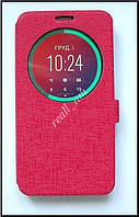 Красный Silk MC View Flip Cover чехол-книжка для смартфона Asus Zenfone 2 ZE551ML, ZE550ML, фото 1