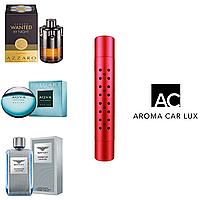 Premium Автомобильный ароматизатор Aroma Car Lux. Комплект из 3х ароматов для мужчин. Цвет Красный