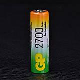 Аккумулятор никель-металлогидридный Ni-MH AA (R6) GP, 1.2V (2700mAh), фото 4