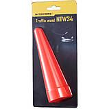 """Диффузор сигнальный """"капля"""" для фонарей Nitecore NTW34 (34mm), красный, фото 3"""