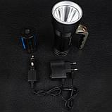 Фонарь прожектор Bailong BL-T801-10 (Cree XM-L T6, 500 люмен, 3 режима, 2x18650), комплект, фото 5