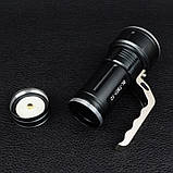 Фонарь прожектор Bailong BL-T801-10 (Cree XM-L T6, 500 люмен, 3 режима, 2x18650), комплект, фото 6