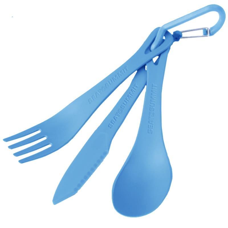Набір столових приладів Sea to Summit Delta Cutlery Set, (ложка, виделка, ніж), блакитний