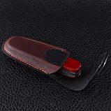 Чехол для ножей Victorinox (84-91мм, 2-4 слоя) на липучке, кожаный, коричневый 4.0533, фото 6