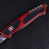 Ніж складний, мультитул Victorinox Rangergrip 63 One Hand (130мм, 5 функцій), червоно-чорний 0.9523.M, фото 6