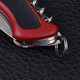 Ніж складний, мультитул Victorinox Rangergrip 63 One Hand (130мм, 5 функцій), червоно-чорний 0.9523.M, фото 9