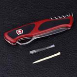 Ніж складний, мультитул Victorinox Rangergrip 63 One Hand (130мм, 5 функцій), червоно-чорний 0.9523.M, фото 10