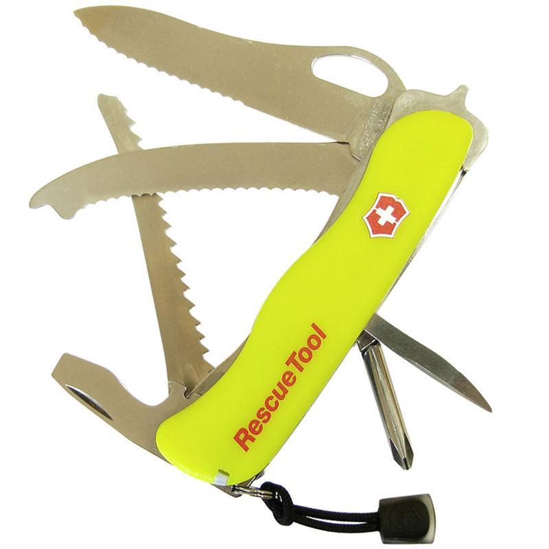 Ніж складний, мультитул Victorinox Rescuetool One Hand (111мм, 16 функцій), жовтий 0.8623.MWN