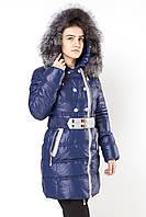 Женское пальто на холлойфабере OLANMEAR 7759 син скидка L 1700