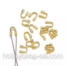 Протектор для защиты ювелирного тросика (ланки) золото 4,5 мм (вес 4 г)