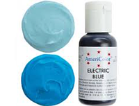 Гелевый краситель Америколор Americolor Цвета электрик голубой blue 21 г