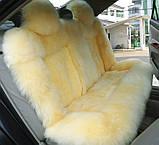 Шкура машину на сидіння, якісні накидки з овчини в автомобіль, фото 6