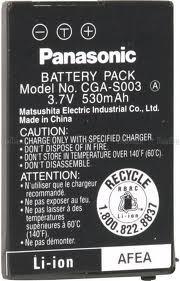 АККУМУЛЯТОР PANASONIC CGA-S003E 3.7V 650mAh Li-Ion