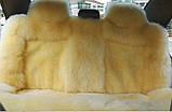 Шкура машину на сидіння, якісні накидки з овчини в автомобіль, фото 7
