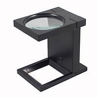 Лупа настольная складная с LED подсветкой TG 9005-B, 8-X увеличение, диаметр линзы-25мм