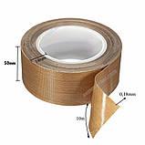 Тефлоновый скотч рулон 10м ширина 50мм толщина 0.18мм термостойкий для запайщика пакетов, фото 3