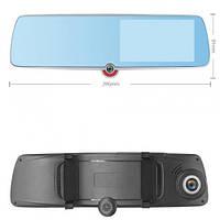 Автомобільний відеореєстратор-дзеркало 1030, LCD 5, TOUCH SCREEN, ULTRA SLIM, 3 камери,1080P Full H (1030)