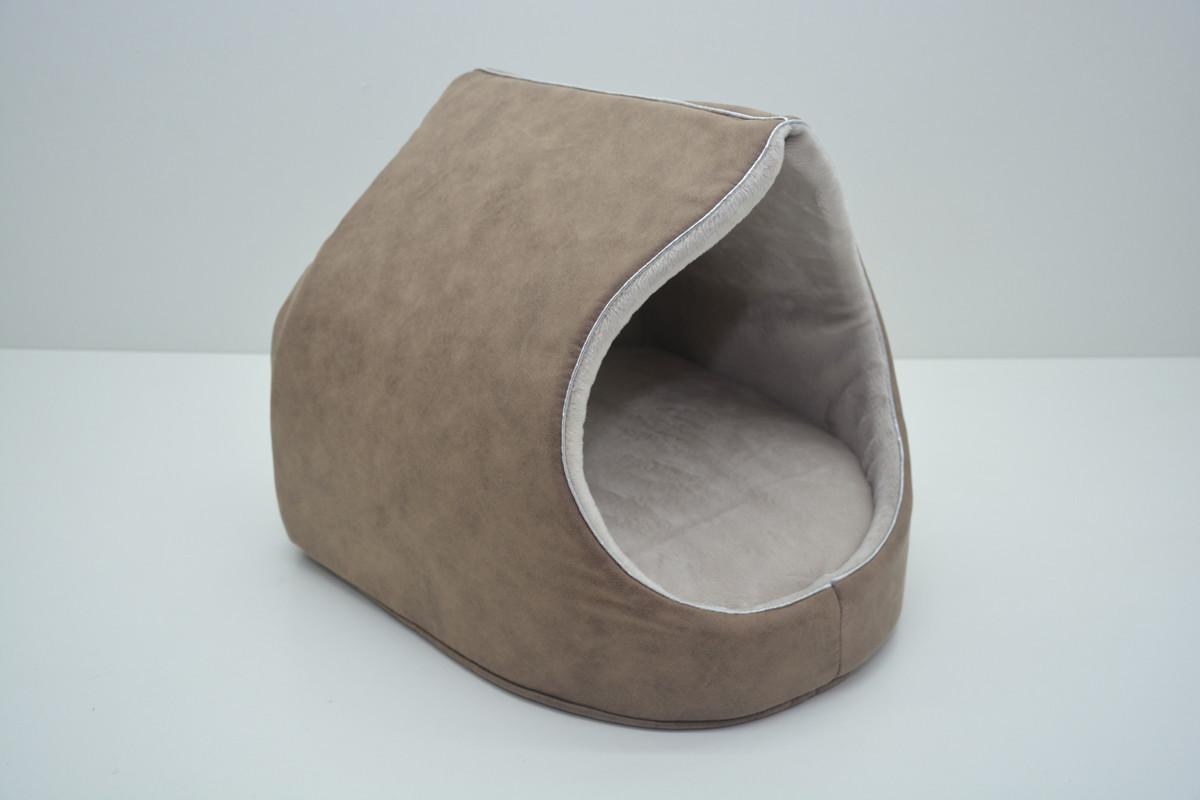 Будка для собак і котів Айсберг №1 360х370х330 коричнева