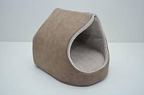 Будка для собак і котів Айсберг №1 360х370х330 коричнева, фото 2