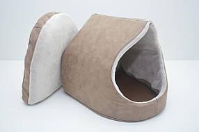 Будка для собак і котів Айсберг №1 360х370х330 коричнева, фото 3