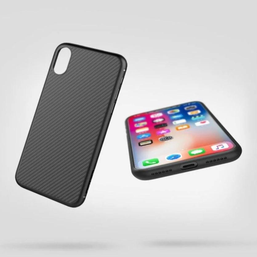 Карбоновый чехол для iPhone XS Max Nillkin Synthetic Fiber