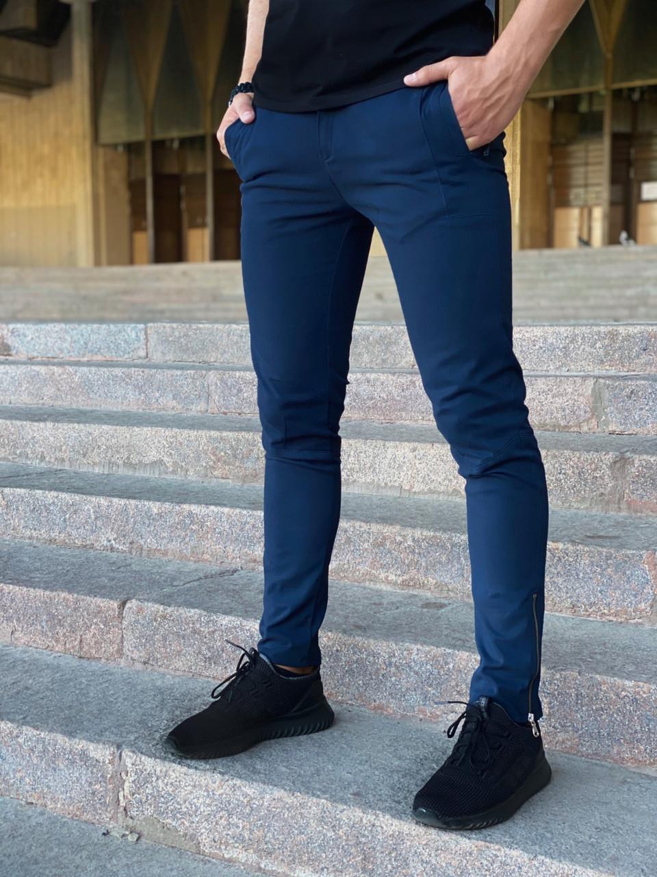 Котоновые штаны Intruder Strider синие