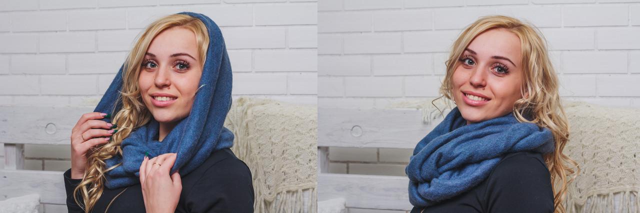 Шарф-снуд (хомут) женский