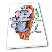 Картина на холсте в детскую Kronos Top Милые Коалы 50 х 70 см lfp12461601675070, КОД: 740055