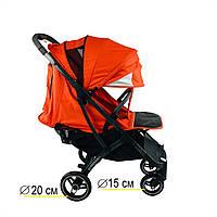 Коляска YOYA plus pro 21(2021) c большим дождевиком цвет оранжевый