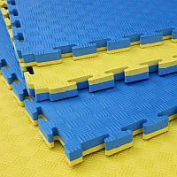 Ластівчин хвіст, мат татамі 1м х 1м х 3 см жовто-синій EVA30-YBL