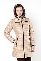 Женская куртка на холлофайбере  ART R-326 беж скидка