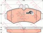 Колодки тормозные дисковые задние  MERCEDES-BENZ SPRINTER 901-905 95-06, VW LT28-55 96-06