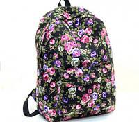 Женские городские рюкзаки с цветами. Молодежные рюкзаки. 17 литров, фото 1
