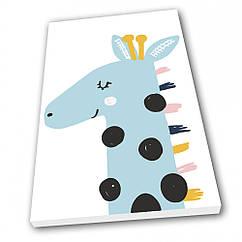 Картина на полотні в дитячу Kronos Top Жираф Бірюзовий 80 х 120 см lfp123631744080120, КОД: 941864